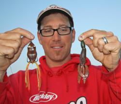 California pro Zack Thompson will use a Snagproof frog to locate active fish and a Berkley Havoc Pit Boss to punch mats.