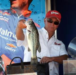 Fishing slow with a Texas-rigged worm was the key for fourth-place pro Don McFarlin.