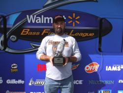 Pete Clark of Malvern, Ark., earned $1,733 as the co-angler winner of the May 14 BFL Arkie event.