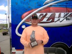 Chance Hebert of Duluth, Ga., earned $2,000 as co-angler winner of the May 14 BFL Bulldog event.