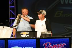 Switching from plastics to moving baits worked well for fourth-place boater Kip Carter.