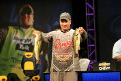 Fifth-place boater Mike Hicks targeted areas with bream beds.