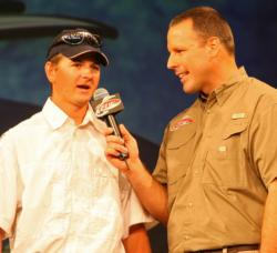 Second-place co-angler Kyle Radake caught his division