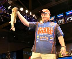 National Guard pro Mark Rose of Marion, Ark., who caught a total of 19 bass weighing 43-4 and earned $32,553, was runner-up.