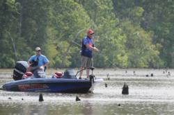 Mark Rose cranked a Strike King KVD 1.5 crankbait to finish second.
