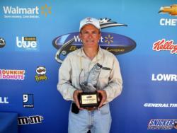 Jeffrey Risinger of Bridgeton, Mo., earned $1,623 as the co-angler winner of the June 4 BFL Ozark event.