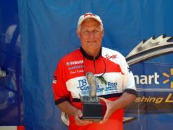 Paul Kotula of Raleigh, N.C., earned $1,578 as co-angler winner of the June 4 BFL Shenandoah event.