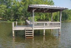 An option to ledge fishing, the many docks sprouting from creeks off the main lake will hold bass in their shady sections.