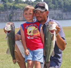 Third place pro Will Davis was joined by 4-year-old son Sawyer.