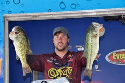 Slowing down his presentations helped Richard Peek top the co-angler division.