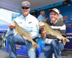 Pro Matthew Ernst and co-angler Randal Sterr caught three walleyes Thursday weighing 12 pounds, 10 ounces.