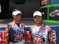 2nd: Auburn University team of Matt Lee and Jordan Lee.