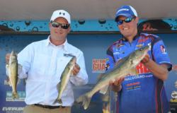 Co-angler Kurt Zins and pro Bill Shimota caught a five-fish limit Saturday weighing 10 pounds even.
