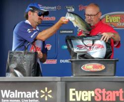 Matt Ferguson fished a custom football head jig and finished fifth.
