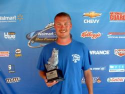 Timmy Gribbins of Lebanon, Ky., earned $1,493 as co-angler winner of the June 11 BFL Music City event.