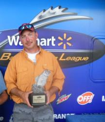 Jackie Reilly of China Grove, N.C., earned $1,757 as co-angler winner of the BFL Piedmont event.