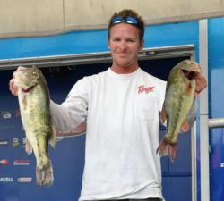 Blake Nick sits in third place in the Pro Division with a two-day total of 37 pounds, 14 ounces.
