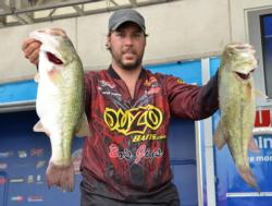 Richard Peek leads the Co-angler Division with a two-day total of 35 pounds, 10 ounces.