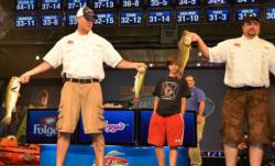 Sgt. Pool of Paducah, Ky., and Sgt. Harrison of Mayfield, Ky., won the National Guard FLW Soldier Appreciation Tournament with three bass weighing 12 pounds, 6 ounces.