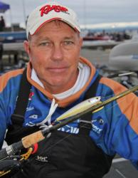 Paul Noechel will start day one with a topwater and probably switch to a spinnerbait later in the morning.