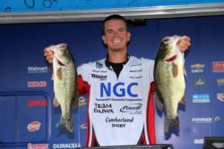 Pro leader Adrian Avena was the only angler to break 20 pounds on the first day of competition on Lake Champlain.