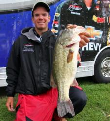 Pro leader Adrian Avena caught his fish on a variety of crankbaits, swimbaits and flipping baits.