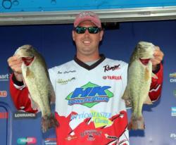 Second-place pro Joe Lucarelli found his fish on a non-descript bank in the Ticonderoga area.
