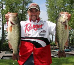 A combination of swimbaits and jigs led Glenn Babineau to a third-place finish on day two.
