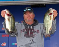 Craig Townsend flipped plastics in grass and shallow trees to earn the fourth-place spot.