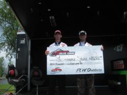 Fairmont State University teammates Wil Dieffenbauch and Brent Dodrill took home the FLW College Fishing tournament title on Lake Champlain. The duo recorded a 16-pound, 2-ounce catch to win the first-place award of $10,000.