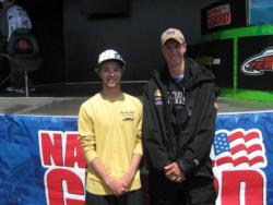 Ramapo College team members Joseph Zapf and Jeffrey Voss used a 15-pound, 3-ounce catch to finish the FLW College Fishing event on Lake Champlain in second place. The team won $3,000.