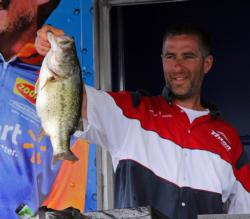 Second-place pro Aaron Wessels had the day