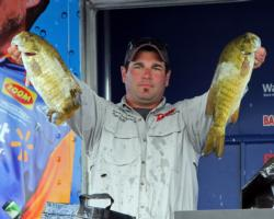This pair of hefty smallmouth helped lift Thomas Lavictoire Jr into fifth place.