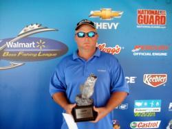 Tim Davis of Laurel, Miss., earned $1,921 as co-angler winner of the June 25 BFL Mississippi event.