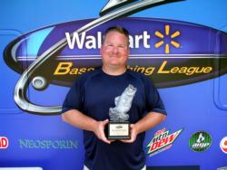 Kenneth Adams Jr. of Gaines, Mich., earned $1,709 as the co-angler winner of the July 9 BFL Michigan event.