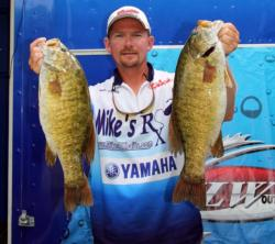 Snapping tubes in Lake St. Clair proved productive for second-place pro Michael Trombly.