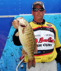 Gary Isgrigg earned Snickers Big Bass honors with this 5-pound,11-ounce smallmouth.