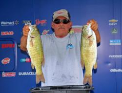 Dropshotting gobies led Chuck Hasty to the co-angler top spot.