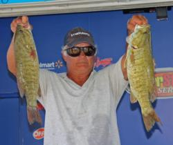 Co-angler leader Robert Prebeck relied on slim profile tubes for his day-two fish.
