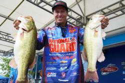 Using a healthy catch of 19 pounds, 9 ounces, Brent Ehrler of Redlands, Calif., managed to finish the day in fifth place
