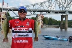 Lance Vick of Mineaola, Texas, used a two-day catch of 35 pounds, 6 ounces to leapfrog from eighth place to third.