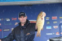 Kevin Hesson improved 30 spots to take the co-angler lead on day two.