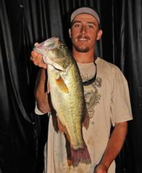 Paired with day-one pro leader Scott Martin, second-place co-angler Matthew Nadeau used a combination of reaction baits and dropshots.