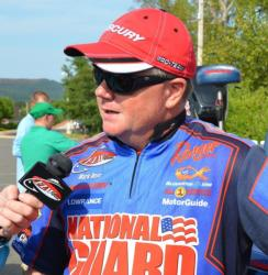 National Guard pro Mark Rose moved up to sixth place after catching 12 pounds, 8 ounces on day two.