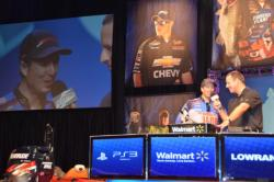 National Guard pro Brent Ehrler talks about his day on the water with tournament host Chris Jones.