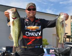 Chevy pro Luke Clausen stormed to second after catching a 16-pound, 3-ounce stringer Saturday.