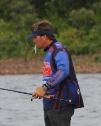 Wishful thinking: When things get tough, Scott Martin gives bass a little hint on what to do with his swimbait.