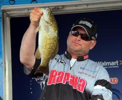 Mike Desforges tempted bass with a spinnerbait and then followed up with a tube.