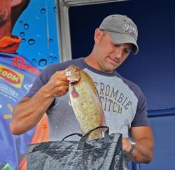 Edward Pecore caught his winning fish on a dropshot baited with a Jackall Cross Tail Shad.