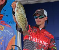 College Fishing standout, Chris Kinney-Hermes caught his biggest weight - 18-10 - on day three and improved from eighth to third.